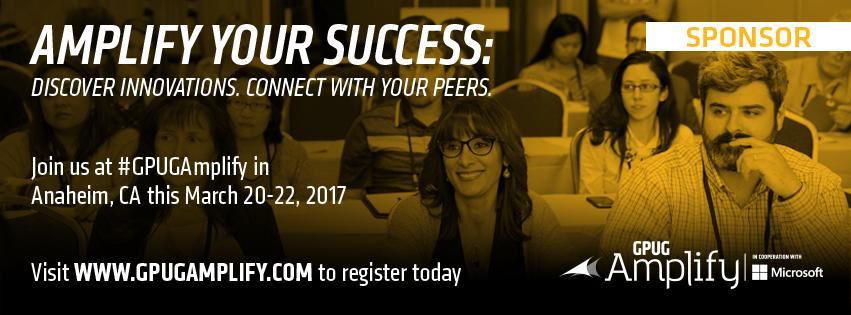 2017 GP Amplify Conference, Anaheim, Microsfot, Sierra Workforce Sponsor