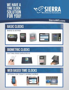 Sierra Workfroce TIme Clocks