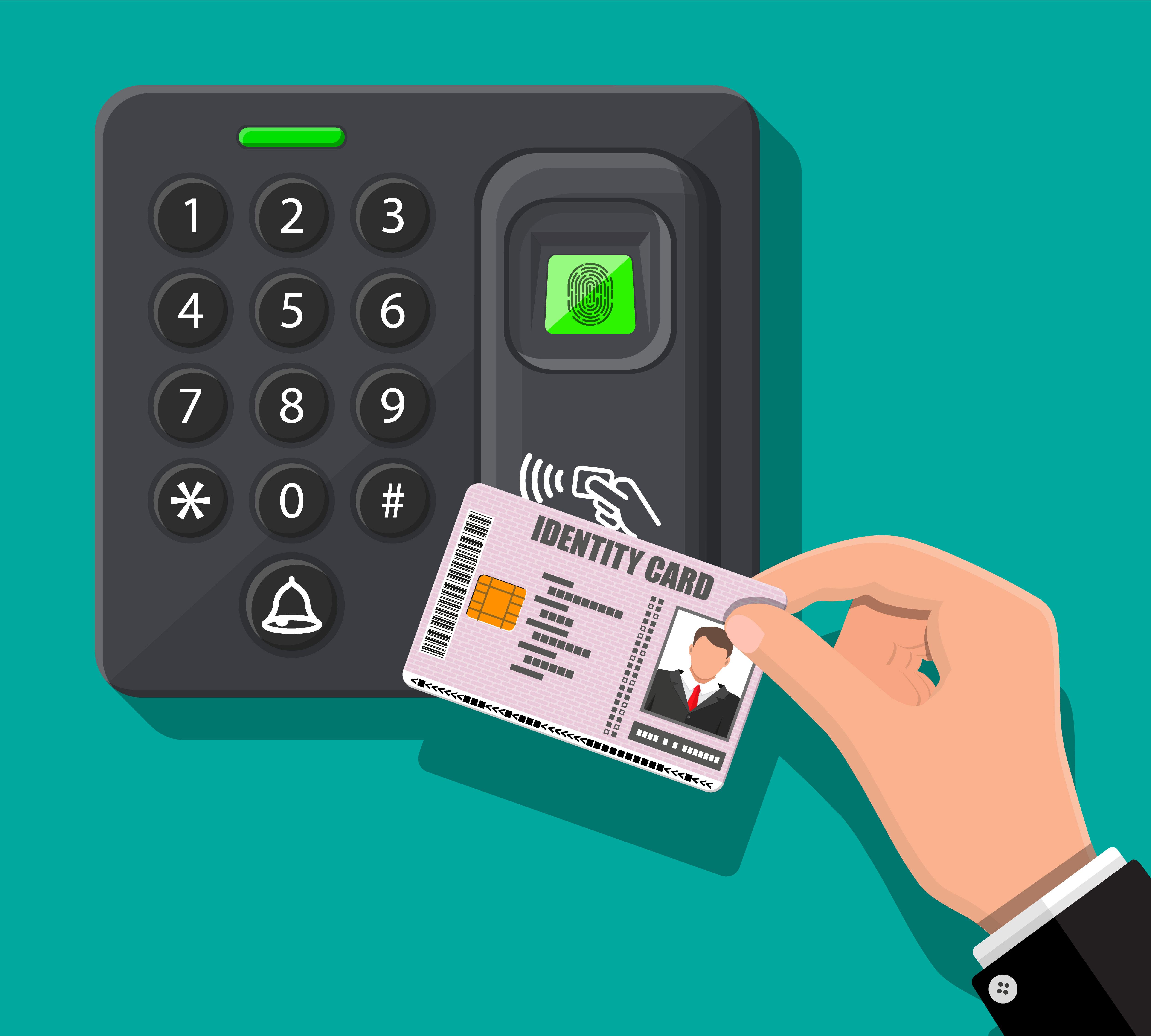 Proximity Time Card Reader
